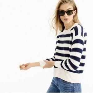 J. Crew Textured Striped Sweater Sz Small
